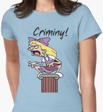 Helga Gargoyle Pataki Womens Fitted T-Shirt