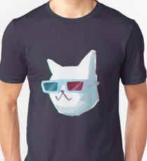 Retro Anaglyph 3D Cat Unisex T-Shirt