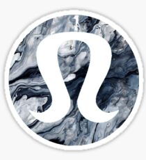 Lululemon Black Marble Sticker