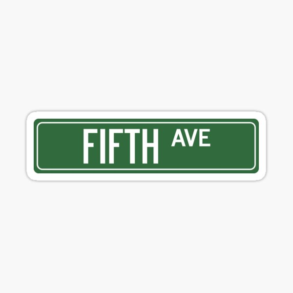 FIFTH AVE, NYC Sticker
