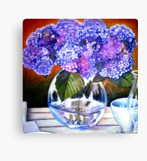 From my Garden - Oil Painting Redone Canvas Print