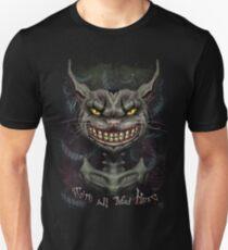 Camiseta ajustada gato de Cheshire