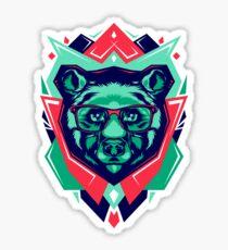 Cute Bear Funny Sticker