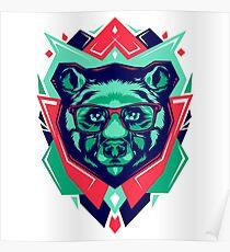 Cute Bear Funny Poster
