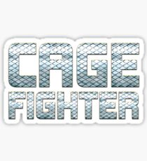 Cage Fighter Sticker