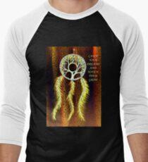 Dream Catcher Gold Baseball ¾ Sleeve T-Shirt
