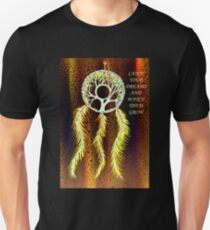 Dream Catcher Gold Slim Fit T-Shirt