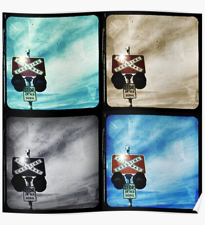 Crossing Polyptych Poster