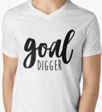 Goal Digger Quote Men's V-Neck T-Shirt