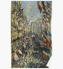 The Rue Montorgueil in Paris. Celebration of June 30, 1878  Claude Monet Poster