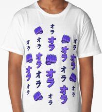 ORA ORA ORA Jojo fists Long T-Shirt