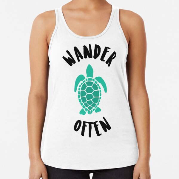 Wander Often Turtle Travel Tank Racerback Tank Top