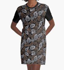 Seashell pattern Graphic T-Shirt Dress