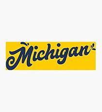 Michigan Hand Schriftzug Fotodruck
