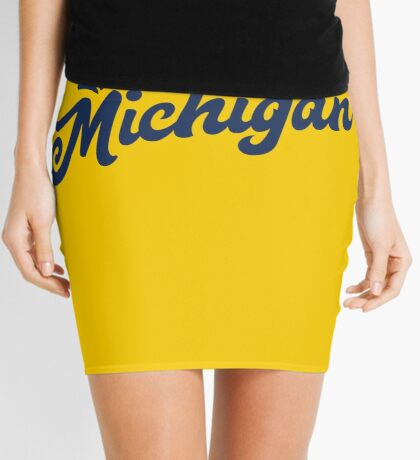 Michigan Hand Lettering Mini Skirt