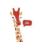 """Cute Giraffe """"Hey"""" Tank Top by orvin"""