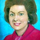 My Mother's portrait in pastels  by coolart