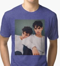 twins in white only  Tri-blend T-Shirt
