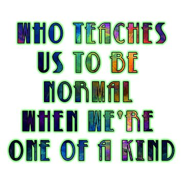 LEGION - Who Teaches Us To Be Normal When We're One of a Kind by rickitywrecked