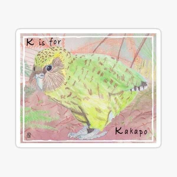 K is for Kakapo Sticker