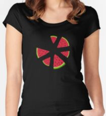 Watermelons in the dark Women's Fitted Scoop T-Shirt