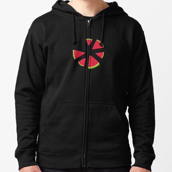 Watermelons in the dark Zipped Hoodie