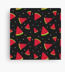 Watermelons in the dark Canvas Print