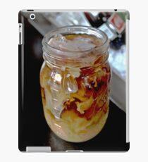 Iced Coffee with Cream in a Vintage Glass Mason Jar iPad Case/Skin