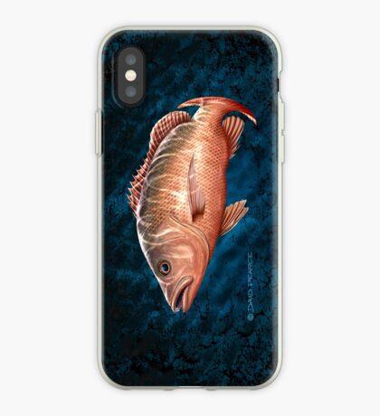 Mangrove Jack on black & blue iPhone Case
