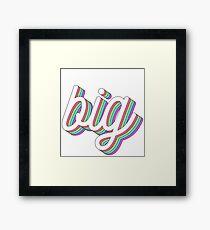 3d layered - big Framed Print