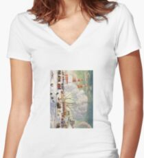 Shrovetide 1920 Boris Kustodiev Women's Fitted V-Neck T-Shirt