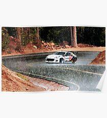 Subaru BRZ Ascending Pikes Peak in the Rain Poster