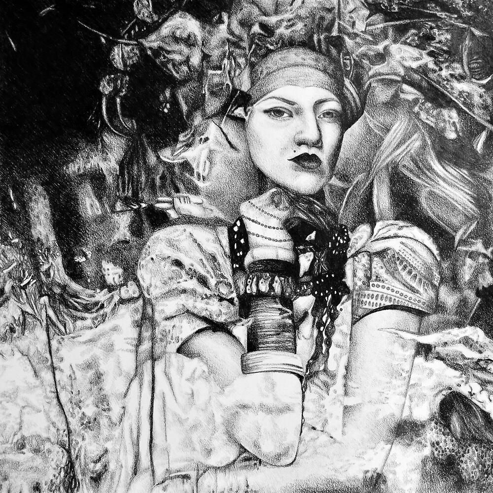 Sweet oblivion, 2017, 50-50 cm, graphite crayon on paper by oanaunciuleanu
