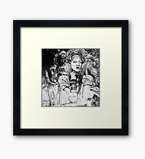 Sweet oblivion, 2017, 50-50 cm, graphite crayon on paper Framed Print