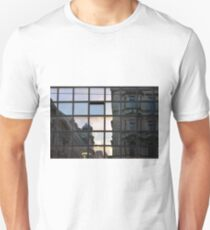 Beautiful classical buildings in Vienna reflected in a glass facade  T-Shirt