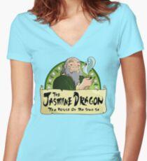 The Jasmine Dragon Tea House Women's Fitted V-Neck T-Shirt