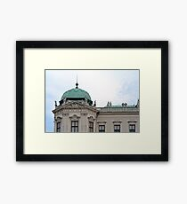 Classical building in Vienna and cloudy sky Framed Print