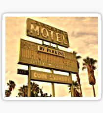 Abandoned Motel Sign Sticker