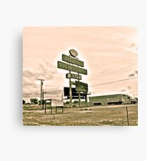 Southwest Motel Restaurant Truck Stop Sign Canvas Print