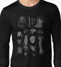 Vintage Anatomy Print  Long Sleeve T-Shirt