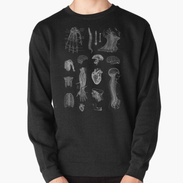 Vintage Anatomy Print  Pullover Sweatshirt