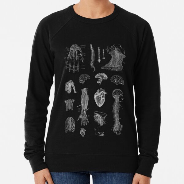 Vintage Anatomy Print  Lightweight Sweatshirt