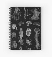 Cuaderno de espiral Impresión de la anatomía del vintage