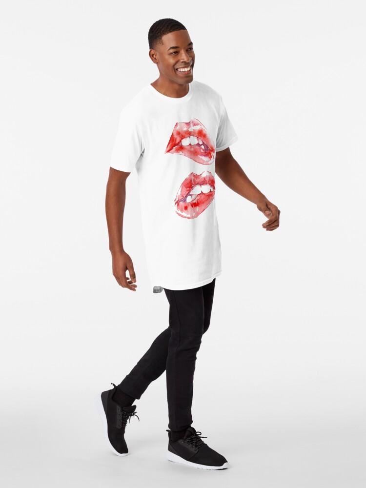 Alternative Ansicht von Beißende Lippen Longshirt
