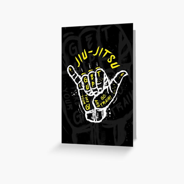 Jiu-jitsu. Go train! 2 Greeting Card