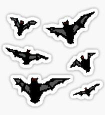 Pixel Bats Sticker