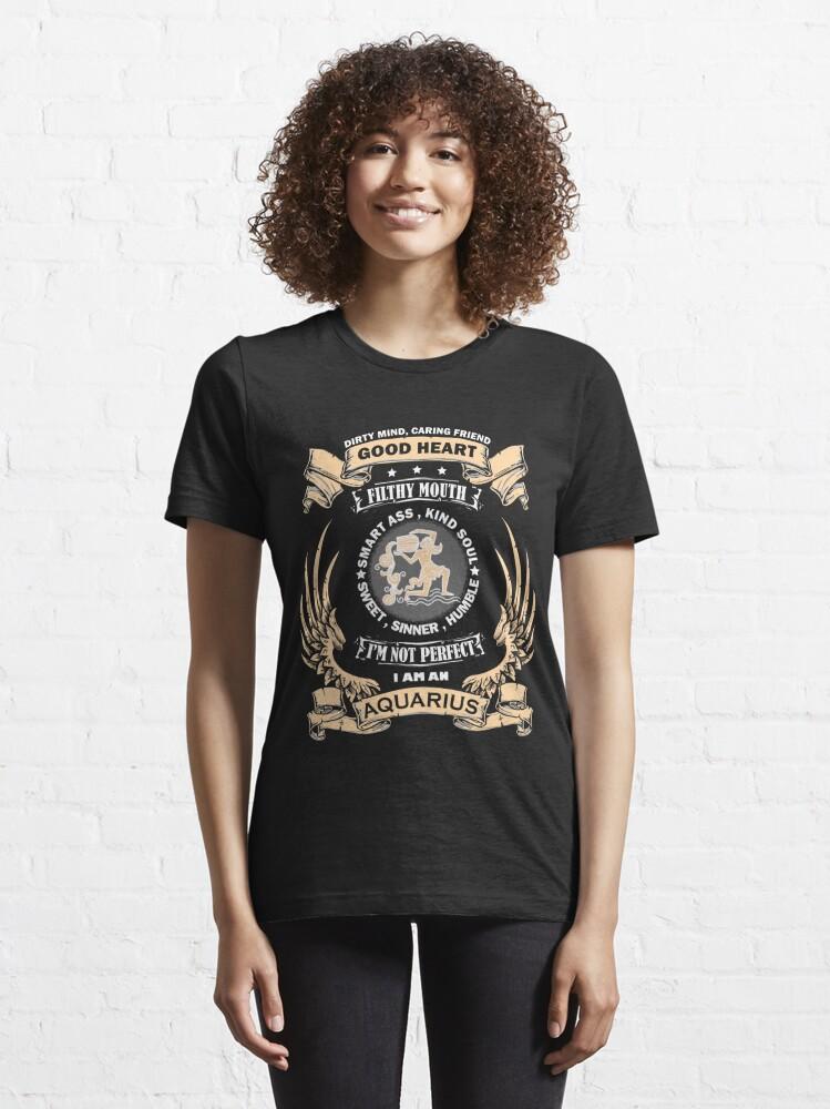 Alternate view of Zodiac Sign - Aquarius Essential T-Shirt