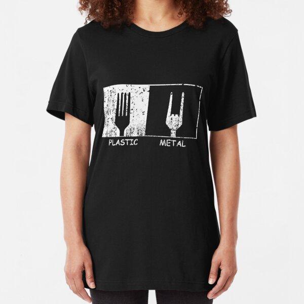 Plastic vs. Metal Slim Fit T-Shirt