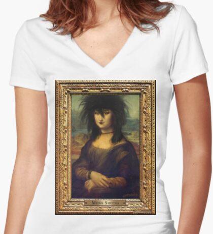 Mona Sheena Fitted V-Neck T-Shirt