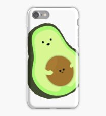 Cute Avocado Mommy with Baby Seed iPhone Case/Skin